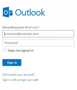 Creating Outlook Account