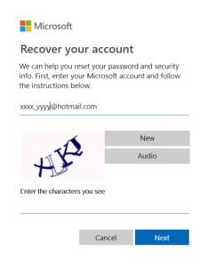 Recover-hotmail-account